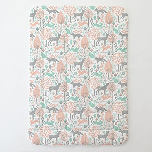 Carousel Designs Gray and Peach Woodland Animals Toddler Bed Comforter by Carousel Designs
