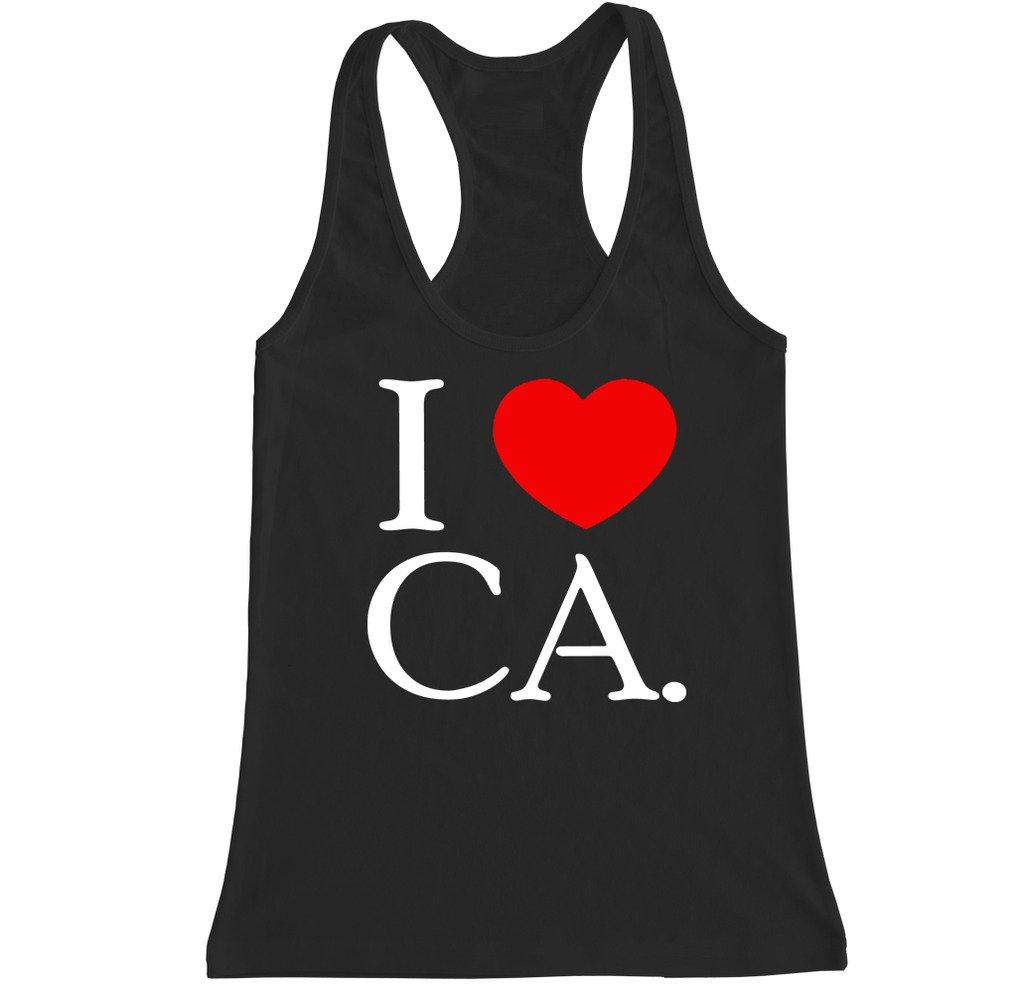 I Love Ca Racerback Tank Top 6041 Shirts