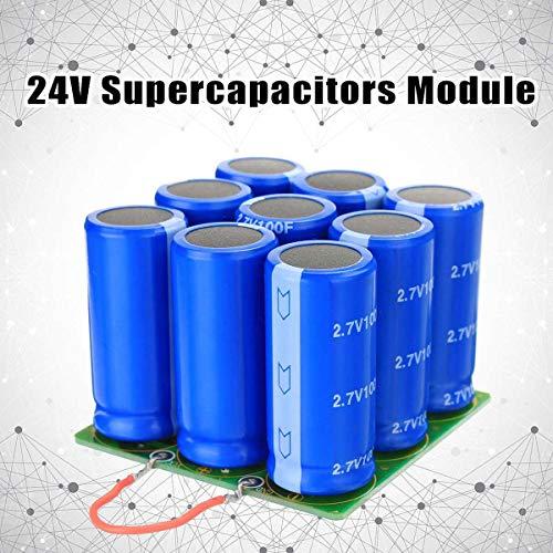Jammas 24V Supercapacitors Module Start Power Motor Start Super Farad Capacitor module 9X 2.7V 100F Electronic Components Supplies ()