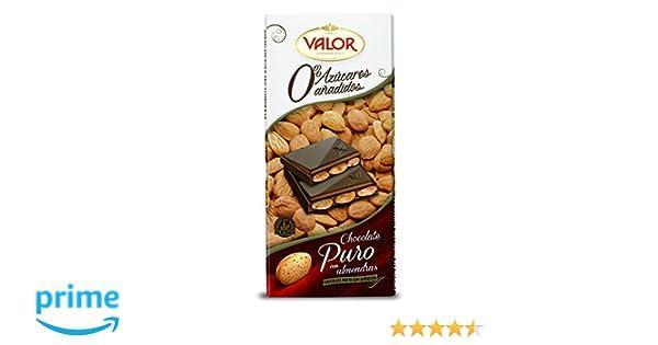 Chocolates Valor - Chocolate puro con almendras Sin Azúcar- 150 g: Amazon.es: Alimentación y bebidas