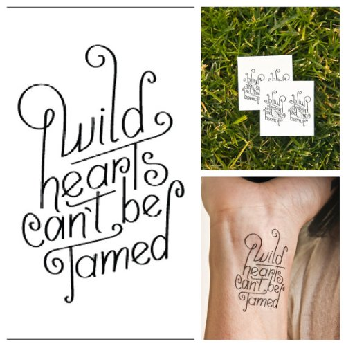 Set of 2 Temporary Tattoo Quote