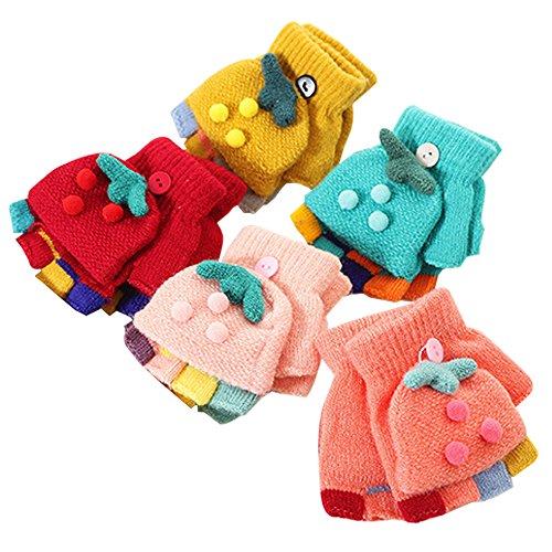 ZEVONDA Kids Winter Autumn Warm Thickened Gloves