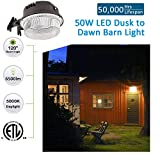 LED Barn Light 50W, SZGMJIA 6500lm Dusk to Dawn