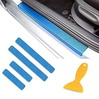 4PCS 3D Carbon Fiber Welcome Pedals Sill Guards Anti-kick Scratch Door Kick Guard Threshold Sticker for ACURA ILX RDS TLX MDX RLX NSX: Automotive