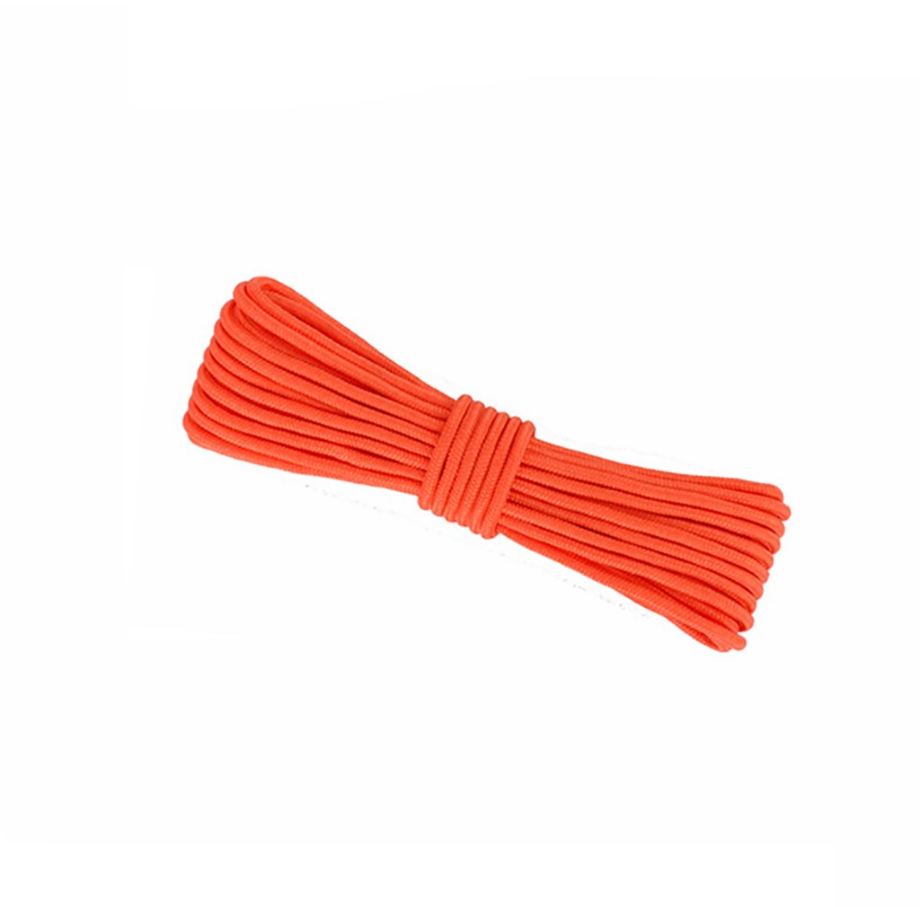 Webb climbing rope,Orange 10M, 20M, 50M, 100M, Rock Climbing Rope,diameter 8mm/10mm Outdoor Explore Escape rescue Rope,High Strength nylon rope Safety Rope (Color : Diameter-10mm, Size : 10M)