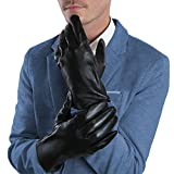 Mens Genuine Leather Winter Touchscreen Gloves With Cashmere Lining By  Debra Weitzner Medium 0fd2371db
