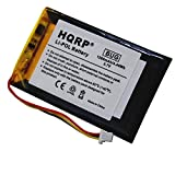 HQRP 1250mAh Battery compatible with Garmin Nuvi 760 / 760T / 765 / 765T GPS Replacement plus HQRP Universal Screen Protector