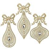 RAZ Imports - Jeweled Tiffany Ornaments With Bows