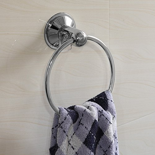 HotelSpa AquaCare series Insta-mount Towel Ring - Drill Free, Mounts instantly on all smooth or textured surfaces without tools, drilling and surface damage well-wreapped