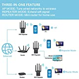 LAOSGE Super WiFi Extender Signal Booster, 1200Mbps