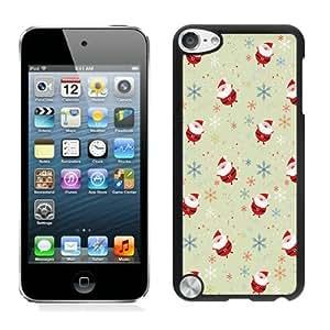 Customized Design lovely Cartoon Santa Claus Black iPod Touch 5 Case 1Kimberly Kurzendoerfer