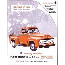 1955 Ford F100 Truck Sales Brochure Literature Book