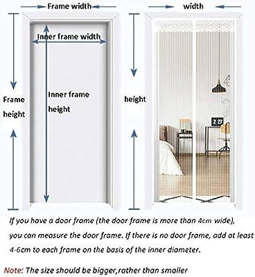 Glasfasermaterial Wei/ß 95x230cm f/ür Balkont/ür Wohnzimmer Terrassent/ür GOUDU Magnet Fliegengitter T/ür Fliegennetz Insektenschutz