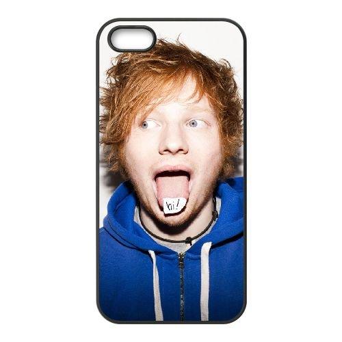 Ed Sheeran 003 coque iPhone 5 5S Housse téléphone Noir de couverture de cas coque EOKXLLNCD17500