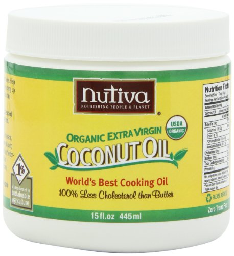 Nutiva Organic Extra Virgin Coconut Oil, 15-Ounce Tubs (Pack of 2)