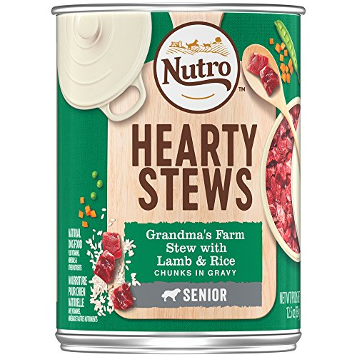 - Nutro Hearty Stews For Senior Dogs, Grandma'S Farm Stew With Lamb & Rice Chunks In Gravy 12.5 Ounce Cans (Pack Of 12); Rich In Nutrients And Full Of Flavor; Supports Healthy Joints & Healthy Digestion In Older Dogs