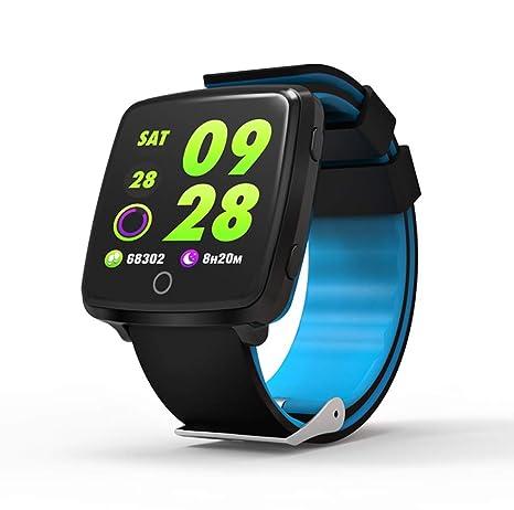 LJXAN Actividad Fitness Tracker Smart Pulsera Podómetro Ritmo Cardíaco Monitorización Tensiómetro Reloj Multi-Sports Modo