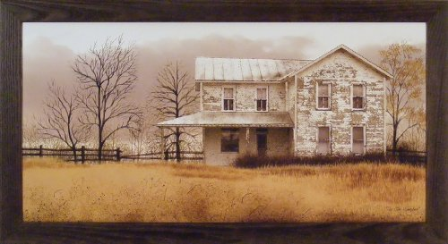 The Olde Homeplace by Billy Jacobs 22x40 Farm - Primitive Decor Pictures