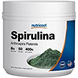 Nutricost Spirulina Powder 400 Grams - Pure Spirulina Powder; 8000mg Per Serving; 50 Servings - High Quality Spirulina