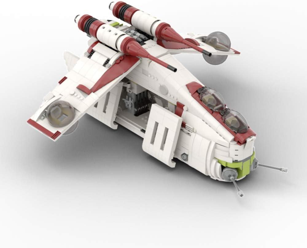Amazon Com Vonado Star Wars Republic Gunship Based Set 75021 Building Kit Moc Model Toys Gift To Adults 1707 Pcs Toys Games