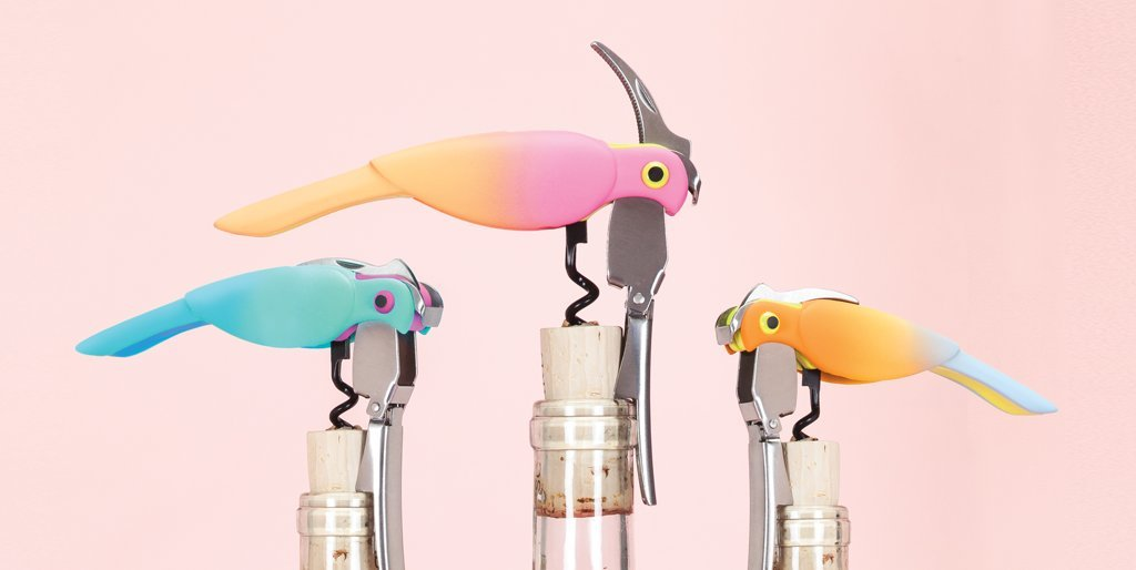 Corkatoo Ombre Double Hinged Corkscrews in Assorted Colors by TrueZoo by TrueZoo (Image #6)