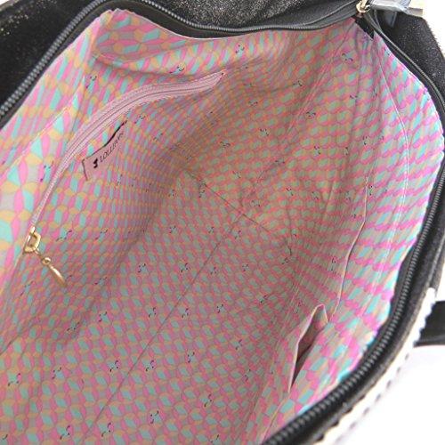 french touch bag Lollipopsnero di paillettes bianco - 44x27.5x16 cm. Venta Directa De Fábrica De Descuento Comprar Barato Para La Venta Barato De Descuento Envío Libre Con Mastercard La Salida De Bajo Costo LkKxZY