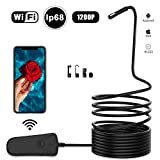 Wireless Endoscope,Snake Camera,Inspection Camera,WiFi Borescope,Snake Camera for IOS &Android,Waterproof IP68 camera with Hook Magnet Side View Mirror,Carrying Case Bag,Black 16.5Ft