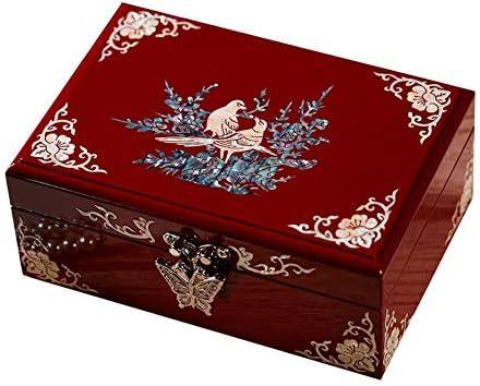宝石箱 結婚式の婚約ギフト用のミラーベルベット多彩な収納ボックスがクリエイティブクラシックポータブルジュエリーボックス木製ショー