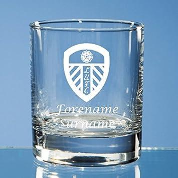 ASTON VILLA FC EMBLEM ETCHED WHISKEY GLASS