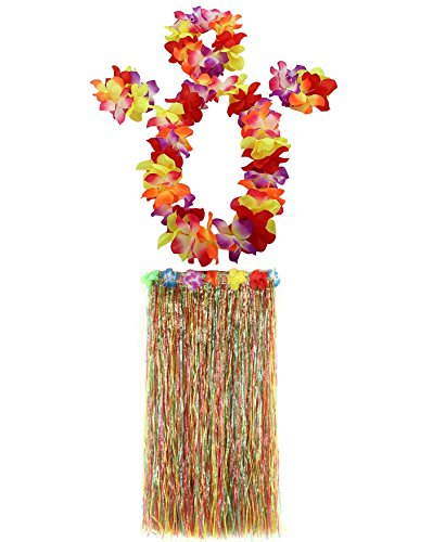 1 Set 80cm Adult Party Hawaii Dress Hula Grass Skirt by AniiKiss -