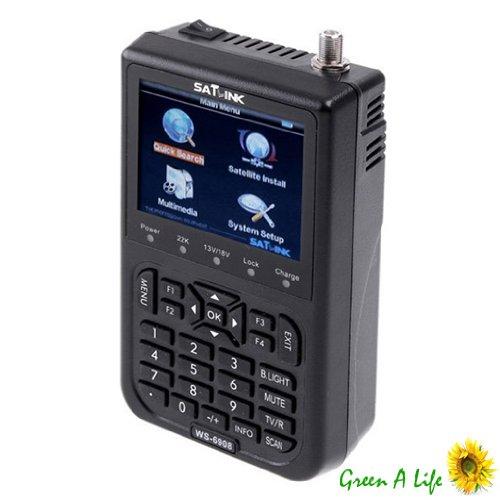 SATlink WS-6906 3.5 - Inch DVB-S FTA Data Digital Satellite Signal Finder Meter