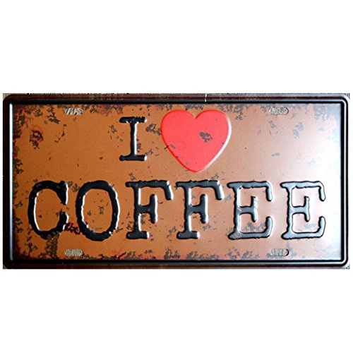 Friends Tin Sign - I Love Coffee Tin Sign Vintage Coffee signs Wall Plaque Retro Home Decoration Cafe Bar Decor (I love coffee)