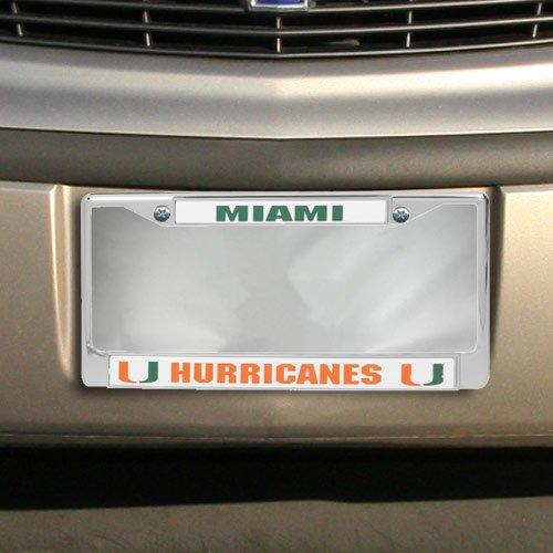 NCAA Miami Hurricanes Silver Metal License Plate (Hurricanes Plastic License Plate)