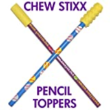 CHEW STIXX PENCIL TOPPERS GRAPE FLAVORED