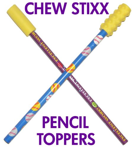 Amazon.com : CHEW STIXX PENCIL TOPPERS : Special Needs Multi ...