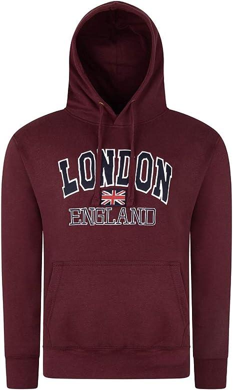 Donna London Felpe Con Cappuccio England Union Jack Top Super Quality