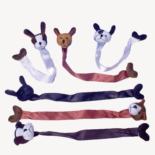 Plush Dog Bookmarks, 12 Pieces
