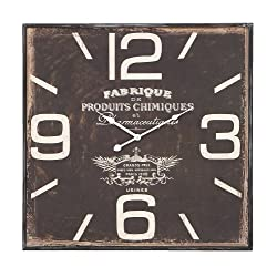Deco 79 Metal Wall Clock, Ultra Design with Dark and Rustic Finish