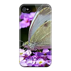 Iphone 4/4s Soo395BsUz Support Personal Customs High-definition Butterfly Image Bumper Cell-phone Hard Cover -ChristopherWalsh
