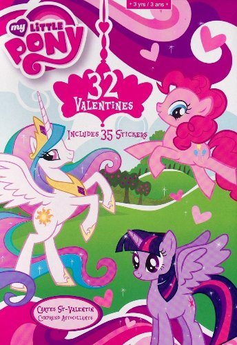 32 My Little Pony Valentines - With 35 Stickers