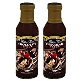Walden Farms Chocolate Syrup Calorie-Free, 12 OZ | Pack of 2 Bottles