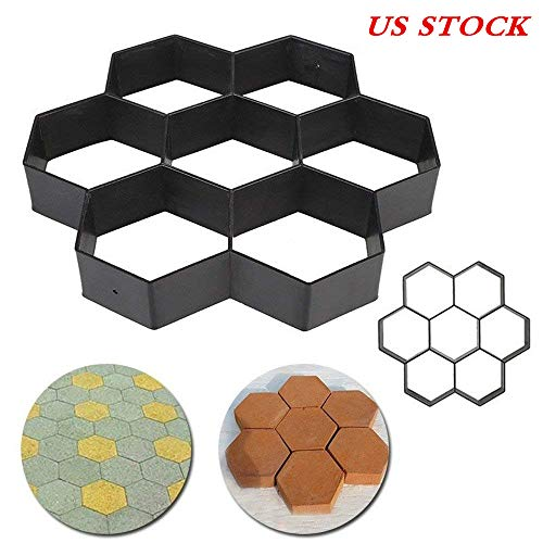 Cheap  [US STOCK] Transer 7 Grids DIY Walk Maker Pathmate Stepping Concrete Cement..