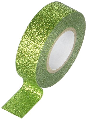 Best Creation GTS008 Glitter Tape, 15mm by 5m, Olive Green