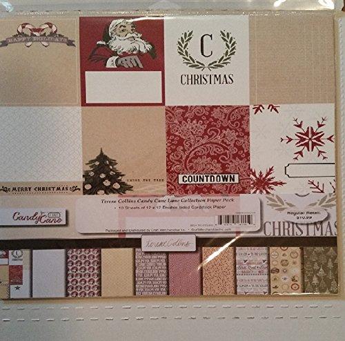 Teresa Collins 12x12 Paper Pack (Candy cane Lane) Teresa Collins Christmas