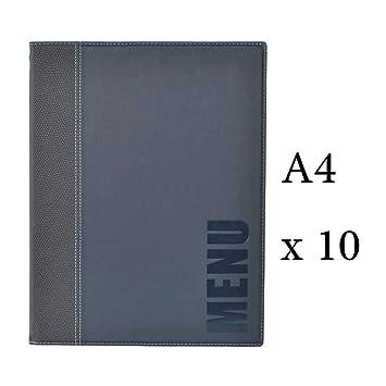 Securit Lot 10 protège-Menu Tendance Format A4 Couleur Bleu ...