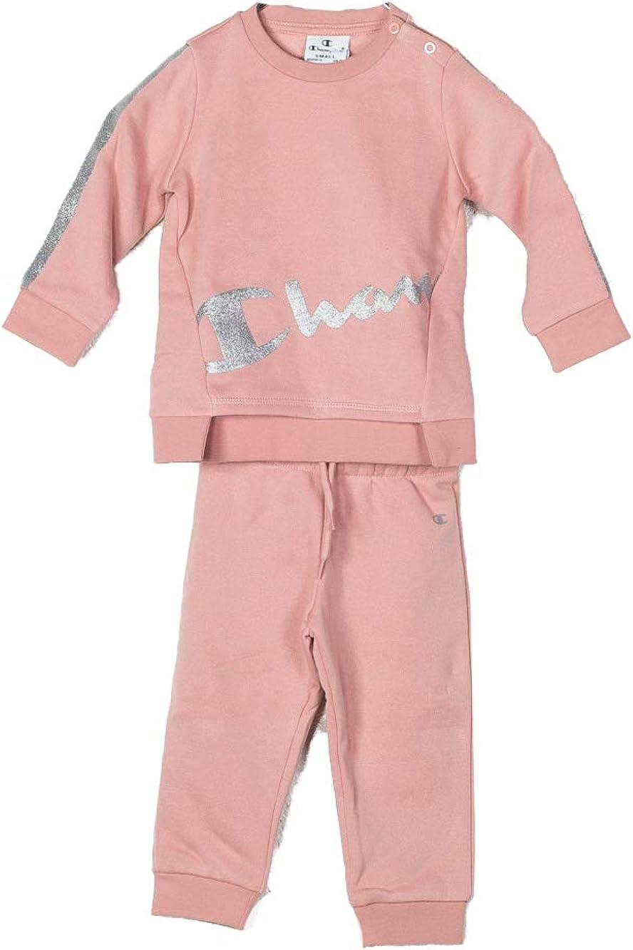 Champion Chándal niña bebé Pink. 403531. Talla 6 Meses: Amazon.es ...