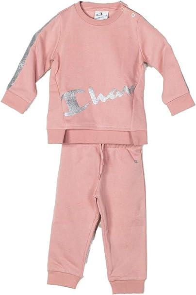 Champion Chándal niña bebé Pink. 403531. Talla 9 Meses: Amazon.es ...