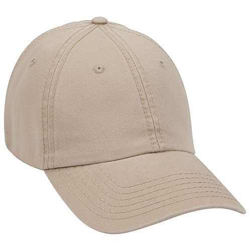 - Product of Ottocap Garment Washed Superior Cotton Twill Six Panel Low Profile Dad Hat -Khaki [Wholesale Price on Bulk]