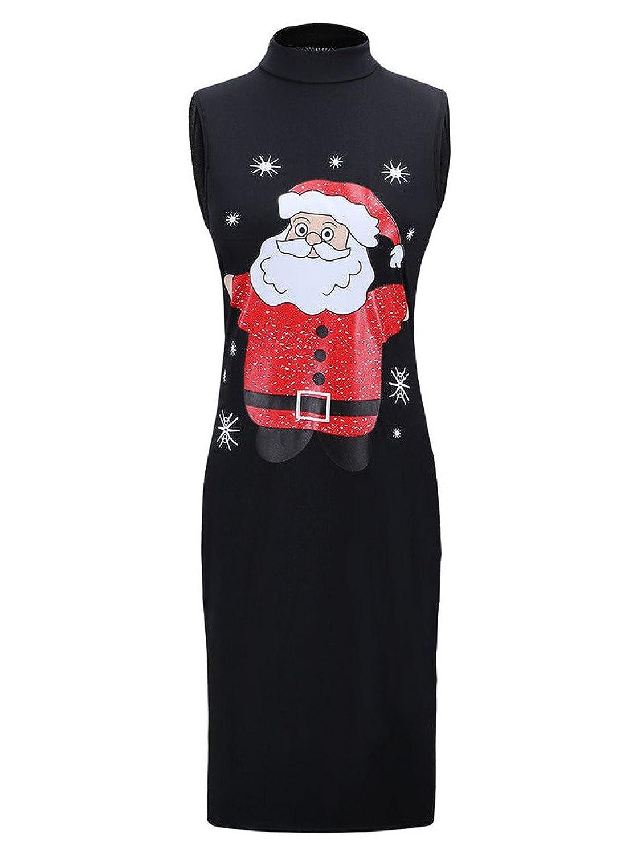 Charles Richards Women's Ugly Christmas Cute Party Club Midi Bodycon Dress