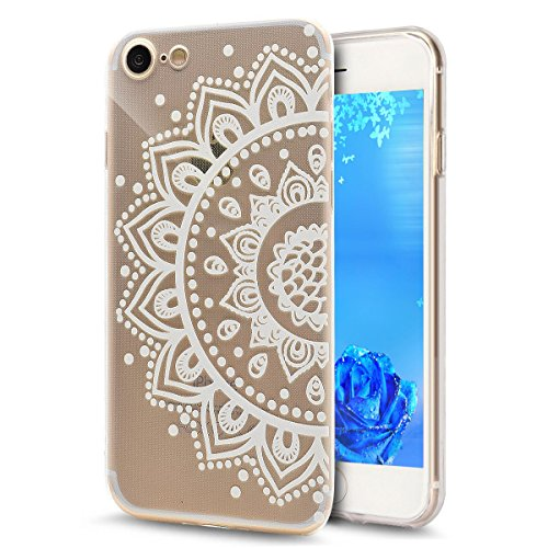 iPhone 7 Plus Clear Silikon Hülle,iPhone 7 Plus Bumper Hülle,iPhone 7 Plus Transparent Hülle,iPhone 7 Plus Clear TPU Case Hülle Klare Silikon Gel Schutzhülle Etui für iPhone 7 Plus 5.5 Zoll,EMAXELERS  Dandelion Lover 5
